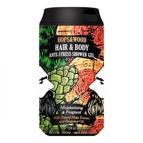 Очищающий и увлажняющий гель для тела и волос The Chemical Barbers Anti-stress Hops and Wood Gel 350 мл ТСВ 33