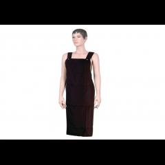 Фартук мастера Dewal для стрижки, полиэстер, черный 102x95 см BP09055