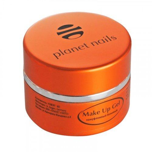 Гель Planet Nails, Make Up Gel Beige, камуфлирующий, бежевый 15 г 11036