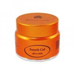 Гель френч Planet Nails, Ultra White French Gel, ультра-белый, густой вязкости, 5 г 11040