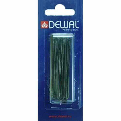 Шпильки Dewal черные, прямые 60 мм, 24 шт/уп, на блистере SLT60P-1/24