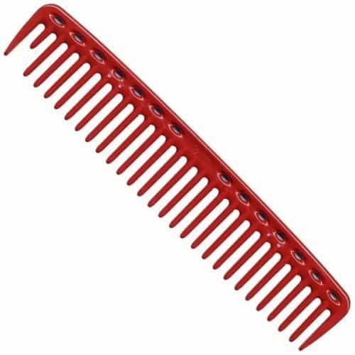 Расческа для стрижки редкозубая Y.S.Park YS-452 red