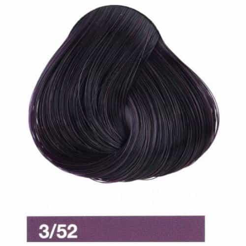 Крем-краска Lakme Collage 3/52, темный шатен махагоново-фиолетовый 23521