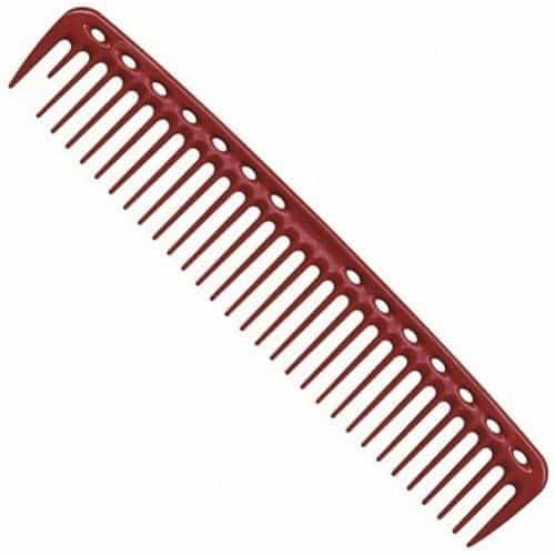 Расческа для стрижки редкозубая Y.S.Park YS-402 red