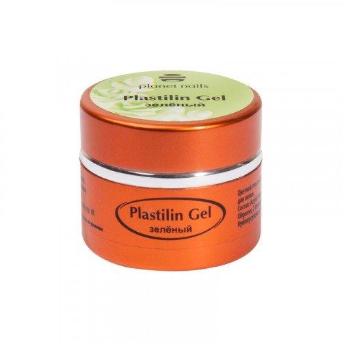 Гель-пластилин Planet Nails, Plastilin Gel, зеленый, 5 г 11280
