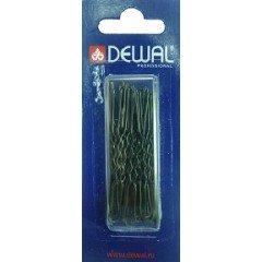 Шпильки Dewal черные, волна 60 мм, 24 шт/уп, на блистере, мягкие SLT60V-1/24