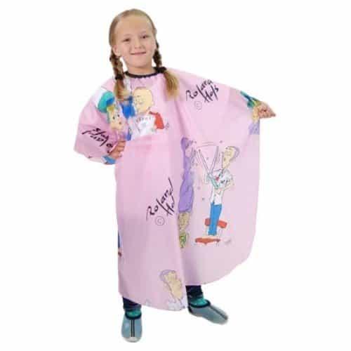 Пеньюар детский HairWay Children нейлоновый, водонепроницаемый, розовый 95x120 см 37904