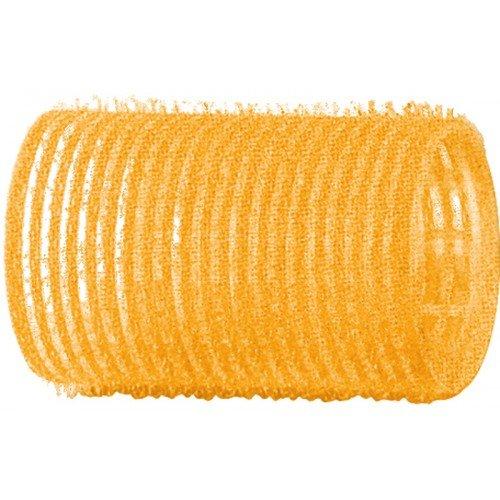 Бигуди-липучки Dewal желтые, 32 мм, 12 шт/уп R-VTR5