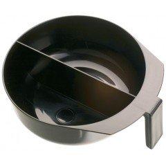 Чаша для краски DEWAL, черная, с ручкой и перегородкой, 2х375 мл T-1207