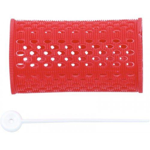 Бигуди пластиковые Dewal красные, 38 мм, 12 шт/уп, RMHR1