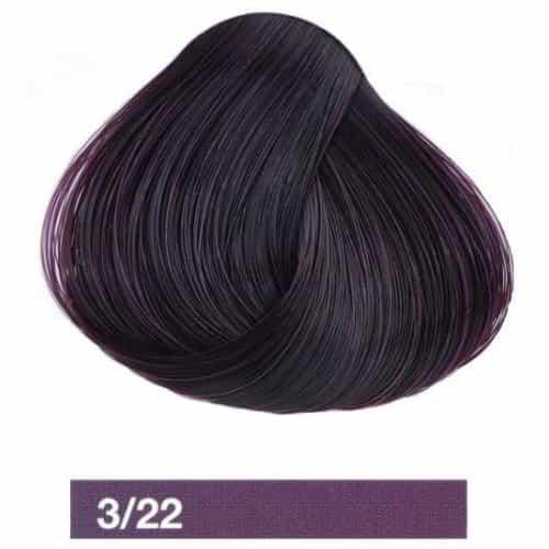 Крем-краска Lakme Collage 3/22, темный шатен фиолетовый яркий 23221