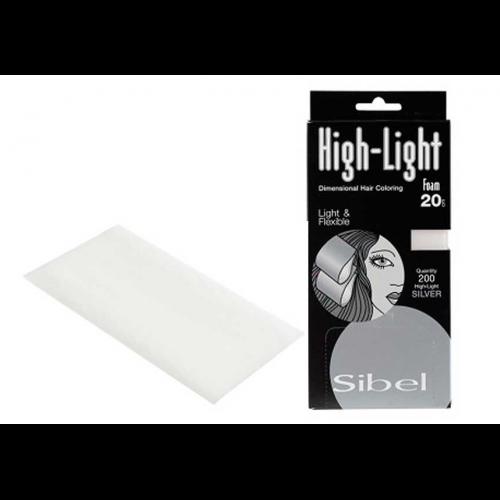 Бумага для мелирования Sibel серебро, 16,5*9 4333071