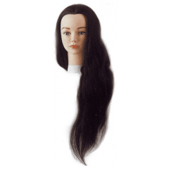 Голова учебная Sibel Jenny, шатенка, натуральные волосы, 40-45 см 0040501