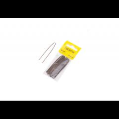 Шпильки Harizma 50 мм волна 30 шт коричневые h10541-04