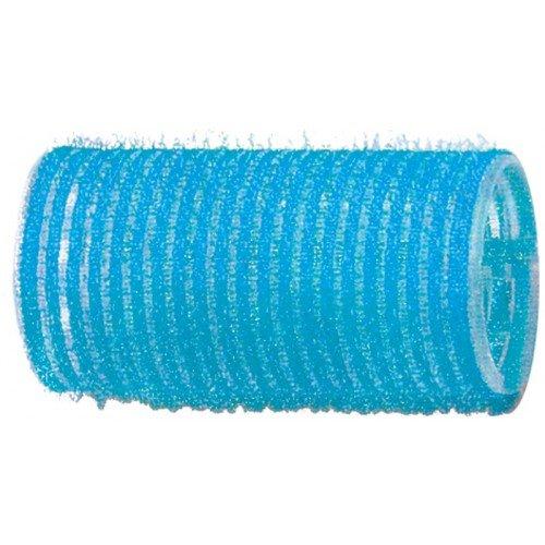 Бигуди-липучки Dewal голубые, 28 мм, 12 шт/уп R-VTR6