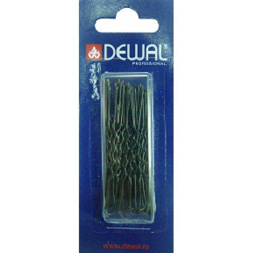 Шпильки Dewal черные, волна 60 мм, 24шт/уп, на блистере SLT60V-1/24