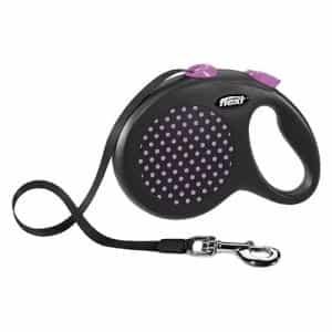 Поводок-рулетка для собак Flexi Design L 5 м ремень розовый