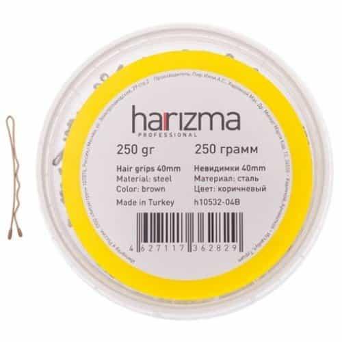 Невидимки Harizma 40 мм волна 250 г коричневые h10532-04B