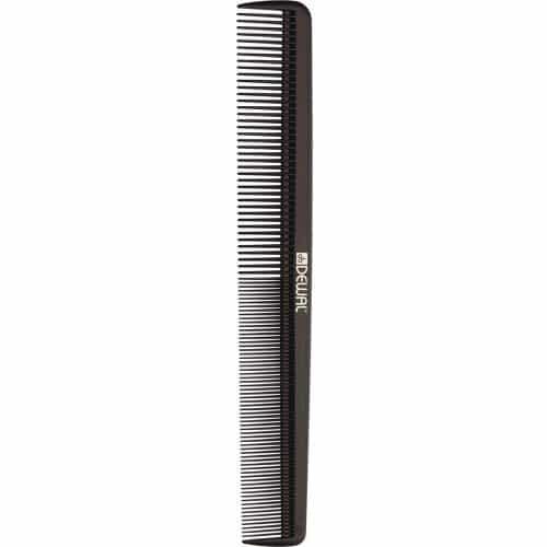 Расческа рабочая Dewal MAGNESIUM комбинированная, широкая, черная 20,7 см CO-M-500