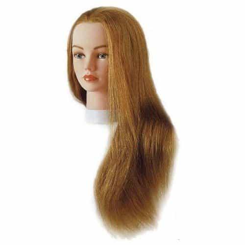 Голова учебная Sibel Julie, блондинка, натуральные волосы, 55-60 см 0040601