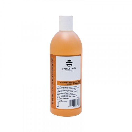 Жидкость для снятия лака Planet Nails, кокос-абрикос, 500 мл 16029
