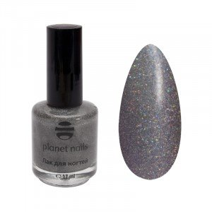 Лак для ногтей Planet Nails, голография, 206, 17 мл 14906