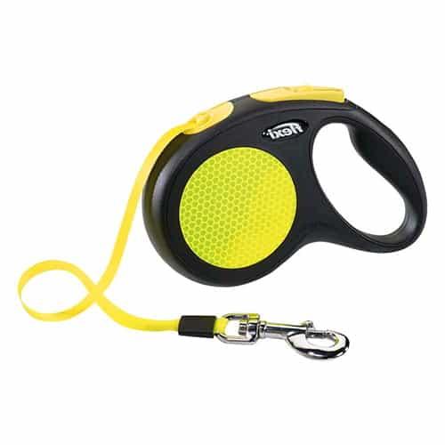 Поводок-рулетка для собак Flexi New Neon M-L ремень