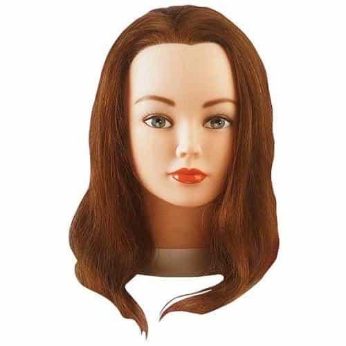 Голова учебная Sibel Cathy, шатенка, натуральные волосы, 35-40 см 0040301
