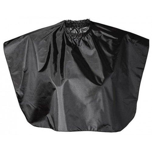 Накидка парикмахерская Harizma, укороченная, черная 73x64 см h10805-15
