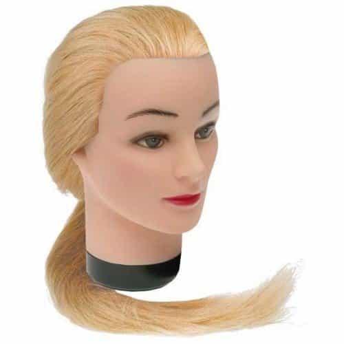 Голова учебная Dewal, блондинка, натуральные волосы 45-50 см M-4151L-408