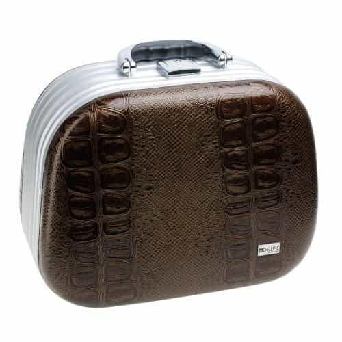 Чемодан для парикмахерских инструментов Dewal, искусственная кожа, коричневый 30,5x16 x23 см HP808C