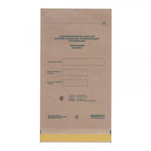 Крафт пакеты для стерилизации Planet Nails, 150Х250 мм, 100 шт в упаковке 19269