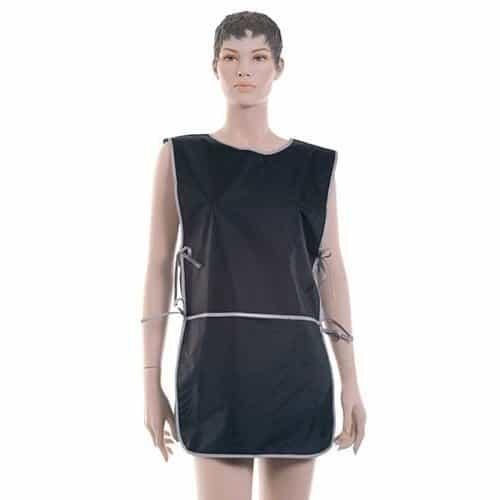 Фартук мастера Dewal для стрижки и окрашивания, нейлон, черный, со спинкой короткий 45x82 см BN90015