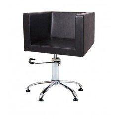 Кресло гидравлика с пиастрой Имидж Мастер Домино, черный, 600 Долеро, 1,40 К-ДМН3