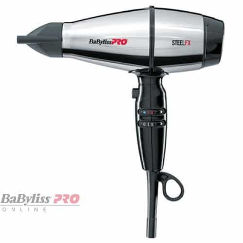 Фен BaByliss Pro STEELFX стальной, с ионизацией, 2000Вт bab8000ie