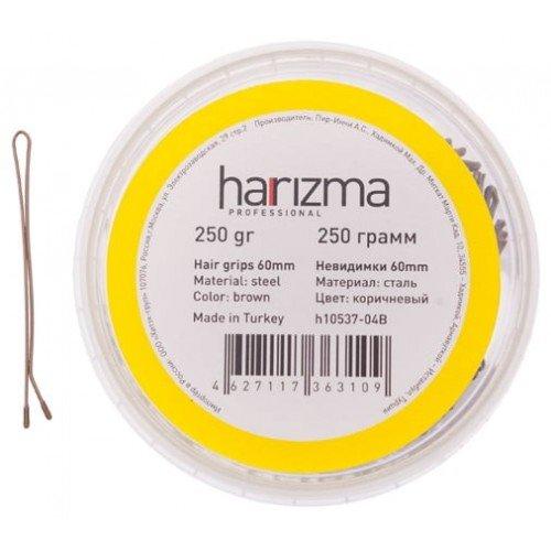 Невидимки Harizma 60 мм прямые 250 гр коричневые h10537-04B