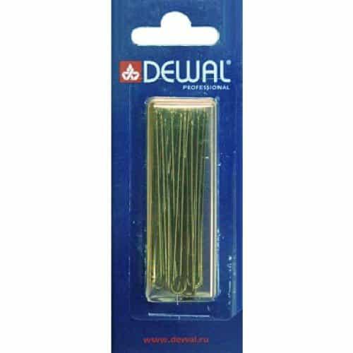 Шпильки Dewal коричневые, прямые 60 мм, 24шт/уп, на блистере SLT60P-3/24