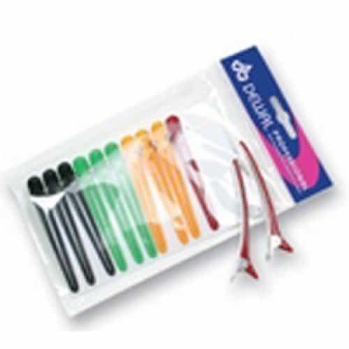 Зажим для волос Dewal цветной, пластик+ металл, 8 см, 12 шт/уп CL2403