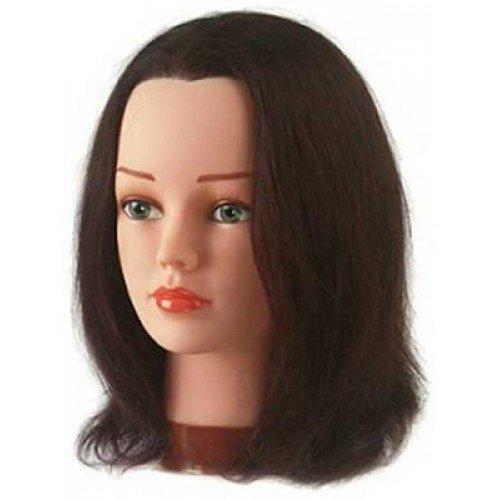 Голова учебная Sibel Betty, шатенка, натуральные волосы, 30-35 см 0040201