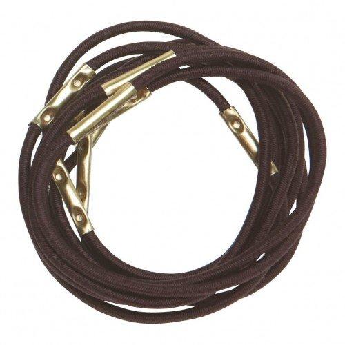 Резинки для волос Dewal, коричневые, midi 10 шт/уп RE025