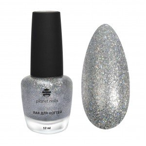 Лак для ногтей Planet Nails с глиттером (603), 12 мл 13603