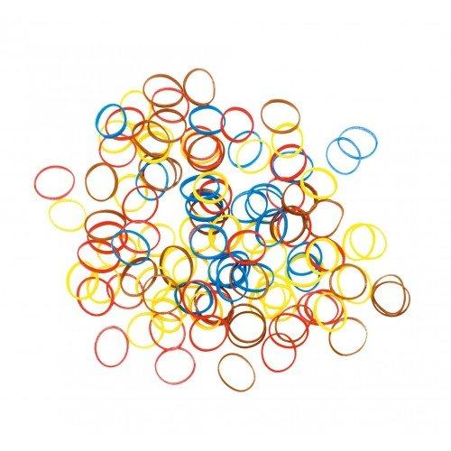 Резинки для волос Dewal, силиконовые, цветные, mix mini 100 шт/уп RES035