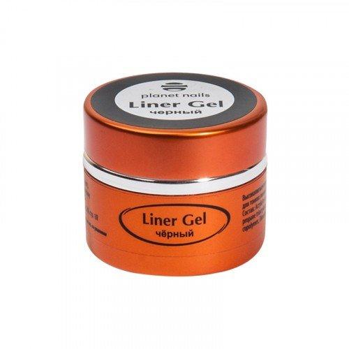 Гель-краска для тонких линий Planet Nails, Liner Gel, черная, 5 г 11838