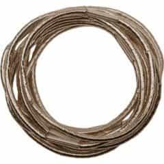 Резинки для волос Dewal блестящие, коричневые, 10 шт RE043