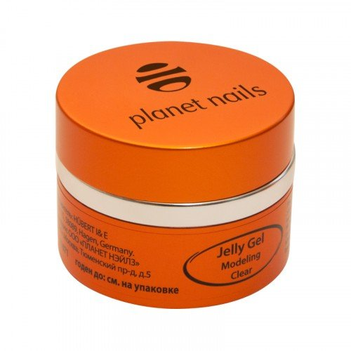 Гель желе Planet Nails, Modeling Clear Jelly Gel, конструирующий, прозрачный, 30 г 11071