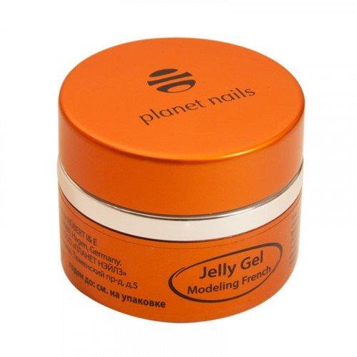 Гель-желе Planet Nails, Modeling French Jelly Gel, высокой степени вязкости, ярко-белый, 30 гр 11079