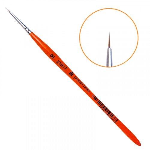 Кисть Planet Nails, для дизайна круглая, из волоса, колонка, № 00 21017
