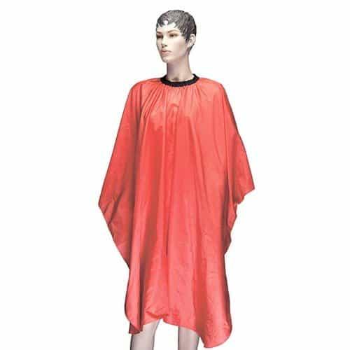 Пеньюар для стрижки Dewal Палитра, полиэстер, оранжевый, 128x146 см, на крючках AA23 orange