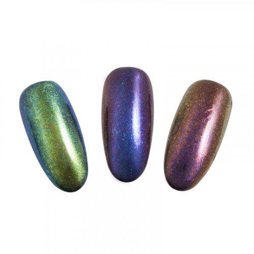 Втирка для ногтей Planet Nails, хлопья, хамелеон, 0,3 гр 23049