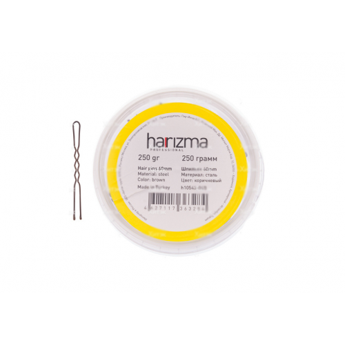 Шпильки Harizma 60 мм волна 250 гр коричневые h10543-04B